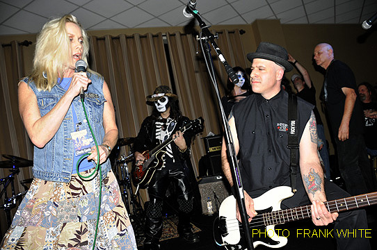 Cherie Currie with Alan Robert of Life of Agony at the Chiller Theatre Expo 2014. (Photo by Frank White)